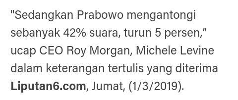 Lembaga Survei Australia Sebut Elektabilitas Jokowi Jauh Ungguli Prabowo