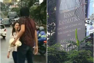Ketahuan Selingkuh, Pria Ini Pajang Wajah Pacarnya di Baliho Jumbo Jalanan Semarang