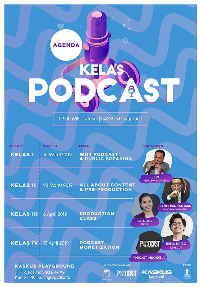Belajar Podcast Sekalian Praktek? Ikut Kelas Podcast Aja Gan!