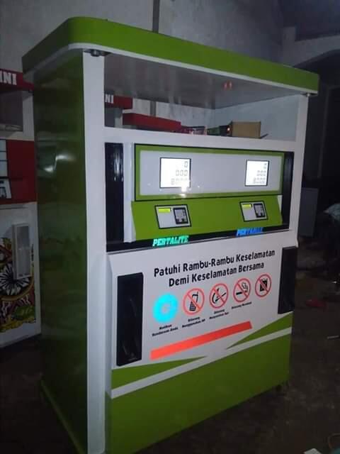 Distributor Pertamini Mesin Pom Bensin Mini Alat SPBU Mini Digital dan Manual