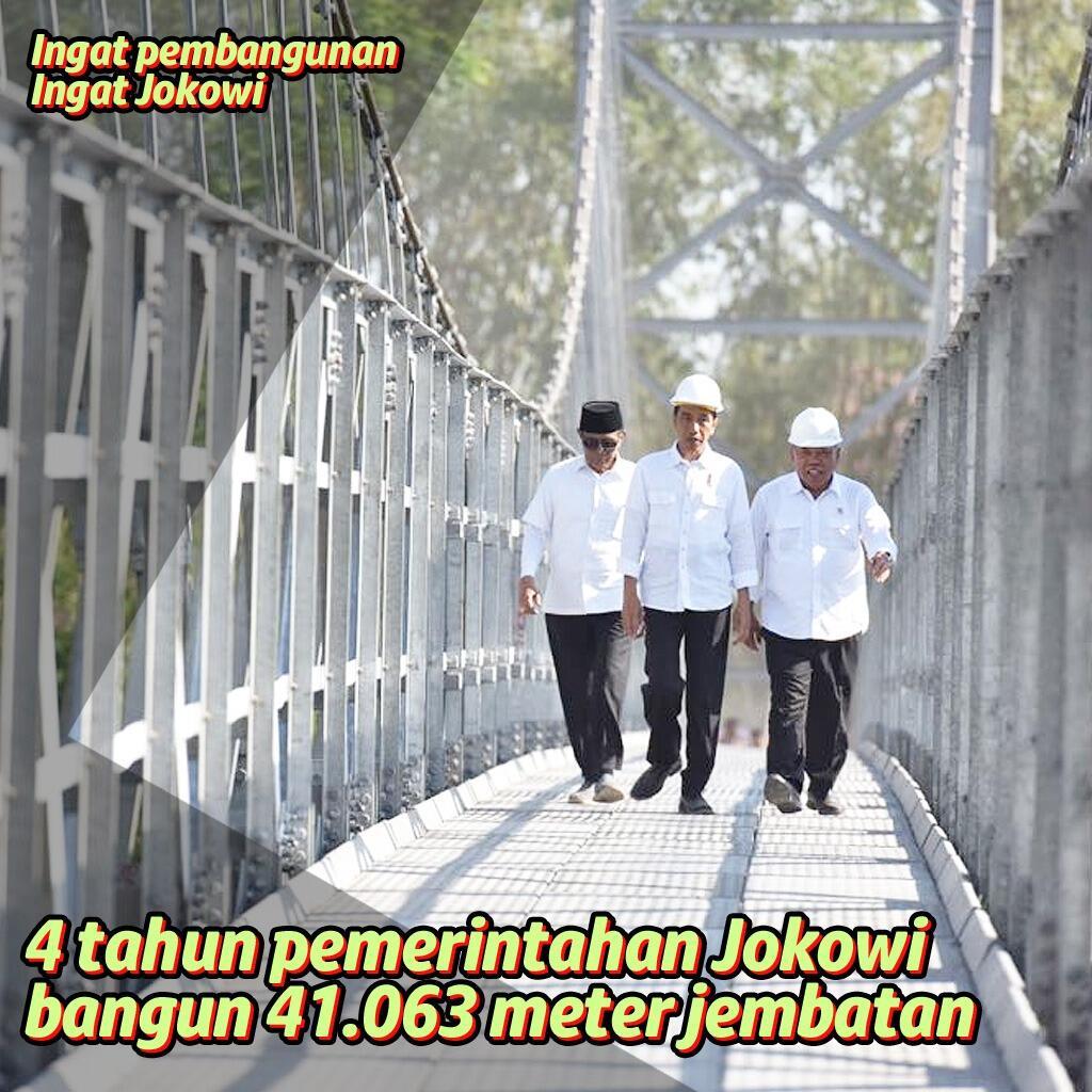 Jokowi Bangun 41.063 Meter Jembatan dalam 4 Tahun