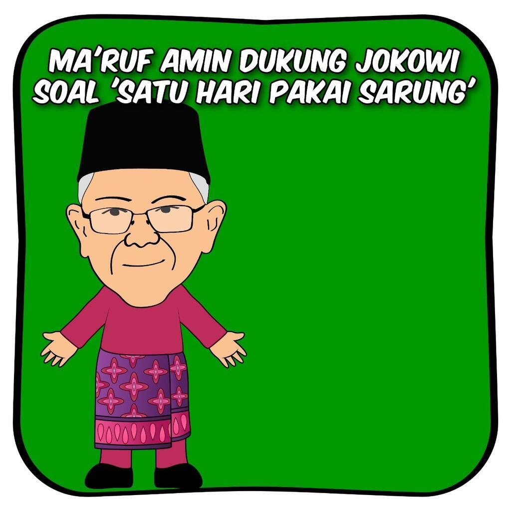 Ma'ruf Amin Dukung Jokowi soal 'Satu Hari Pakai Sarung', Ini Alasannya