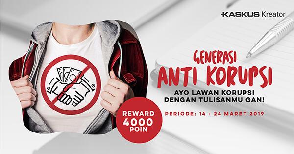 """Sebarkan Semangat """"Generasi Anti Korupsi"""", Dapatkan Bonus 4000 Poin!"""