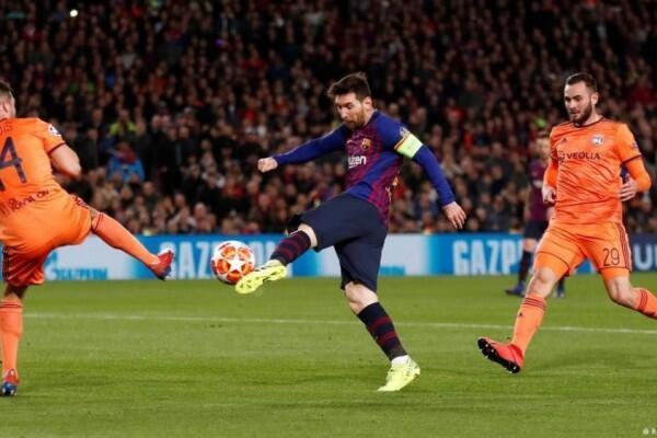 Lionel Messi Pimpin Barcelona Atasi Perlawanan Sengit Lyon