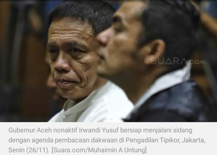 Gembar-gembor Mahzab Hanafi, Mantan Gubernur Aceh Malah Terjerat Kasus Suap