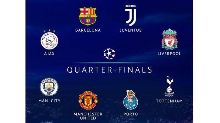 8 Tim Telah Lolos Ke Babak 8 Besar Liga Champion Eropa