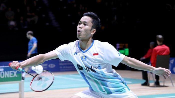 Tekuk Wakil Malaysia, Anthony Ginting Tembus Perempat Final Swiss Open 2019