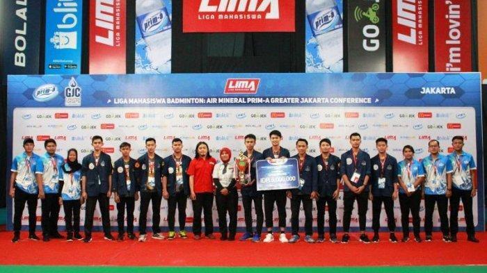 Putra dan Putri Universitas Trisakti Juara LIMA Badminton Jakarta