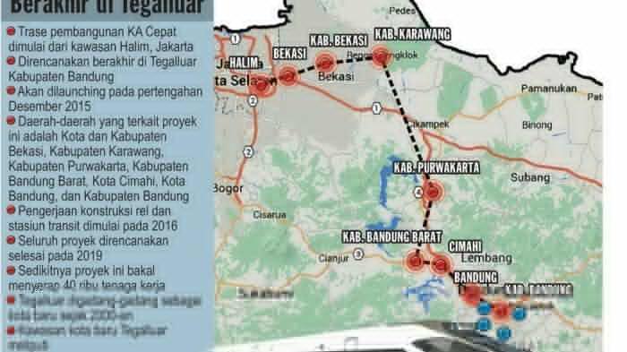 Kereta Cepat Jakarta-Bandung akan Terhubung dengan Jalur Kereta ke Kota Bandung
