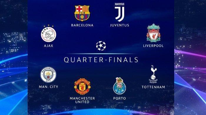 NANTIKAN Live Streaming UEFA.com Drawing Liga Champions, Big Match Perempat Final