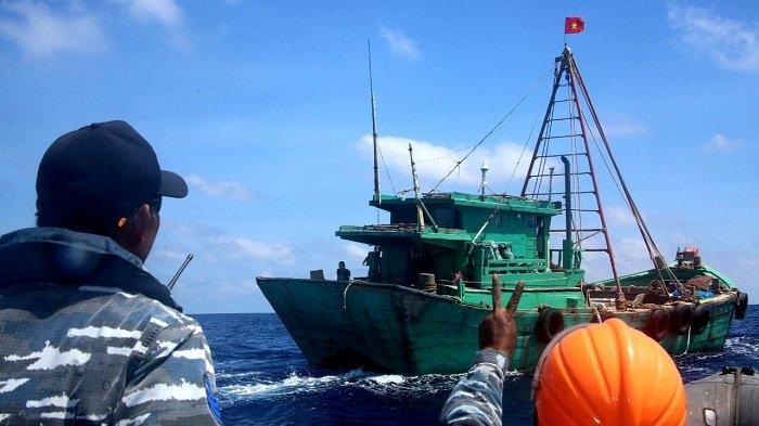 Dua Kapal Ikan Vietnam Ditangkap di Perairan Natuna Utara