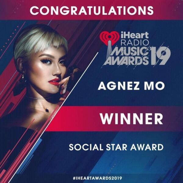 Menang iHeart Radio Music Awards, 7 Pencapaian Internasional Agnez Mo