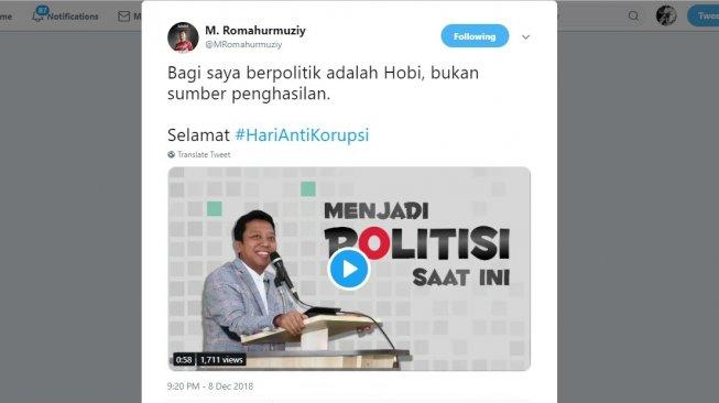 "Romahurmuziy: ""Bagi Saya Berpolitik Adalah Hobi, Bukan Sumber Penghasilan"