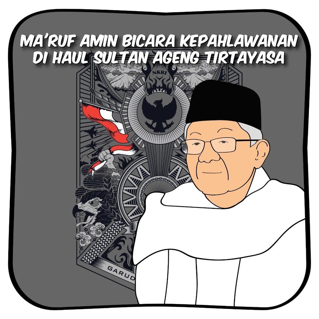 Ma'ruf Amin Bicara Kepahlawanan di Haul Sultan Ageng Tirtayasa
