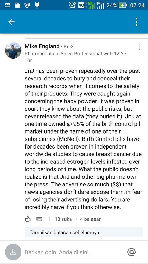 [Terjadi lagi] Johnson n Johnson dituntut karena bedaknya sebabkan kanker