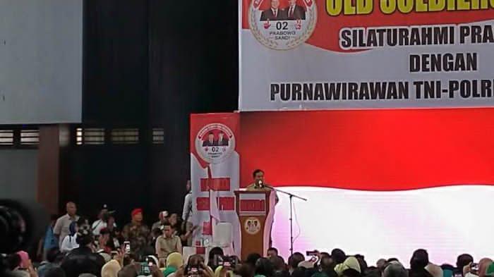 Silaturahmi dengan Purnawirawan TNI-Polri Prabowo 'Squat Jump'