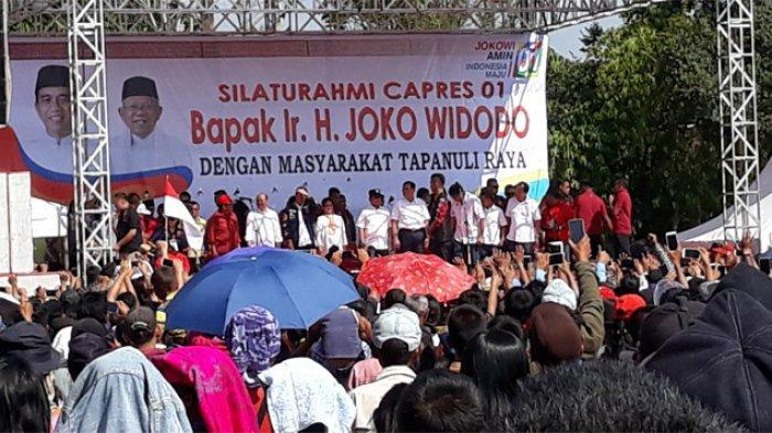 Jokowi Minta Tapanuli Utara Bisa Meraih Suara Paling Sedikit 97 Persen