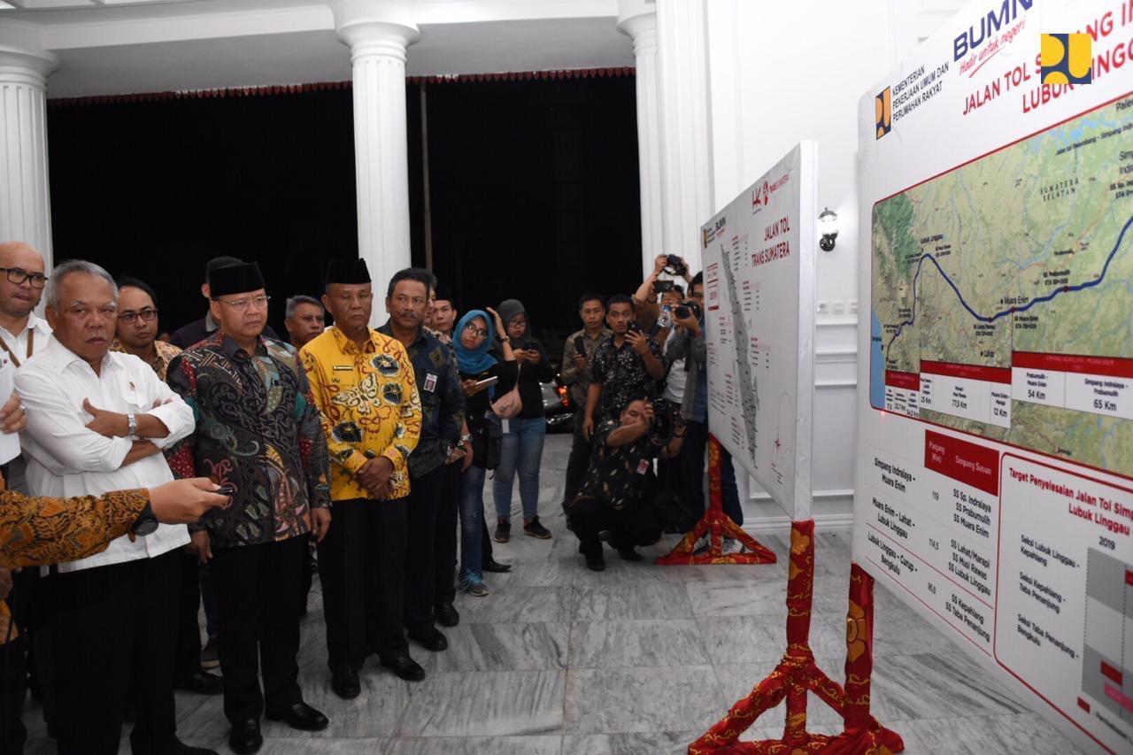 Pembangunan Tol Lubuk Linggau-Curup-Bengkulu 95,8 Km Dimulai