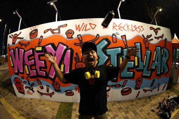 10 Potret Wendi Cagur Menekuni Hobi Grafiti, Bukti Seniman Sejati!