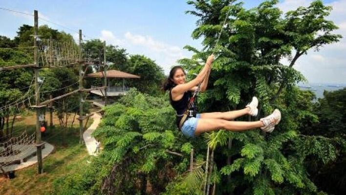 Saatnya Impian Jadi Nyata: Megazip Adventure Park Singapore, Gokil Abis!