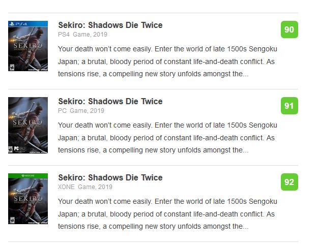 [OT] Sekiro: Shadows Die Twice (2019)