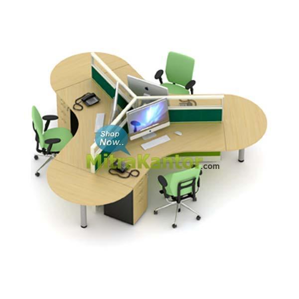 [REVIEW] Tetap Bisa Ngobrol Walaupun Ada Sekat dengan Meja Partisi Kantor Ini