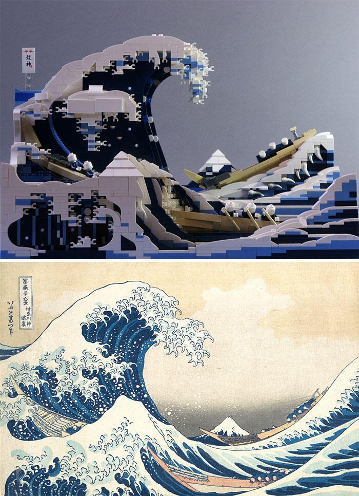 Remake Karya Seni Klasik Dunia Menggunakan LEGO  Hasilnya