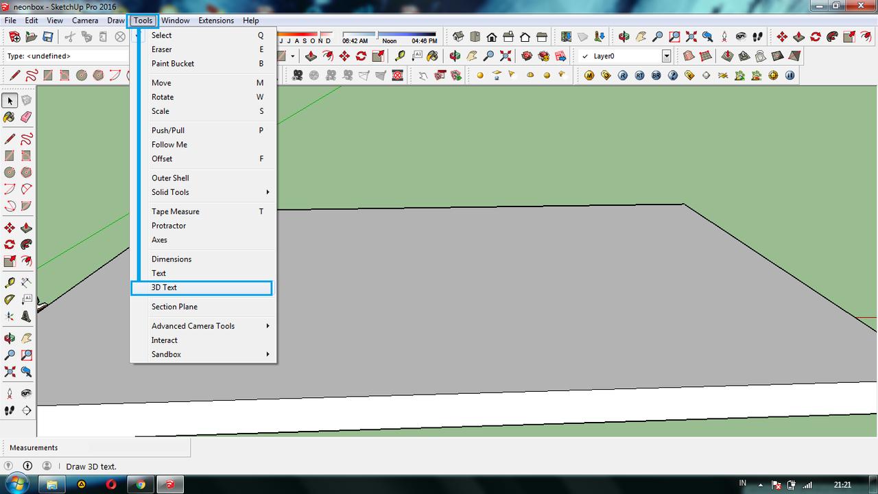 Ini dia Cara Mudah bikin Tulisan Menyala 3D di SketchUp