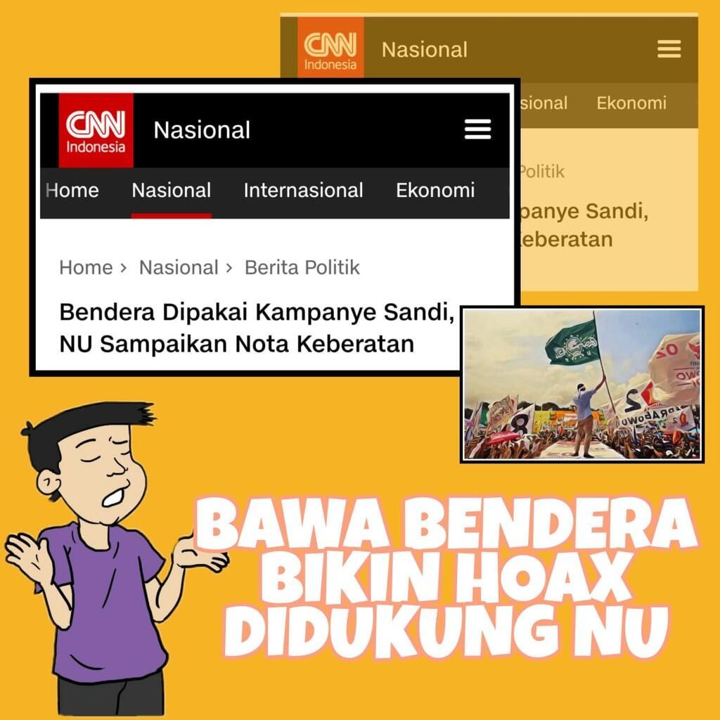 Bendera NU Dipakai Sandiaga Kampanye, PCNU Lumajang Protes Keras