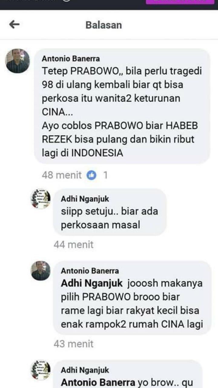 Pria Asal Nganjuk yang Komentar di FB Antonio Banerra Ditangkap