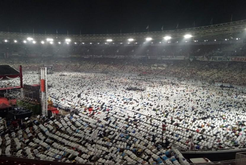 Hadiri Kampanye Akbar, Pendeta Protestan Doakan Prabowo-Sandi di GBK