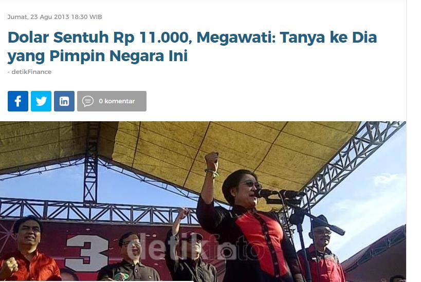 Megawati Angkat Bicara Soal Rupiah