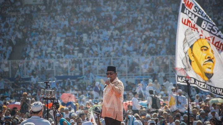 Video Rizieq Belum Rampung, Prabowo dan Massa Tinggalkan GBK