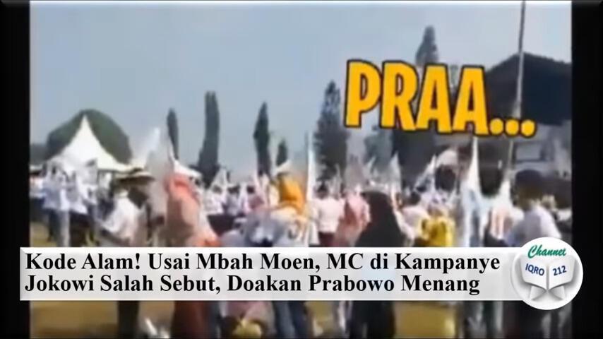 Kode Alam! Usai Mbah Moen, MC di Kampanye Jokowi Salah Sebut, Doakan Prabowo Menang