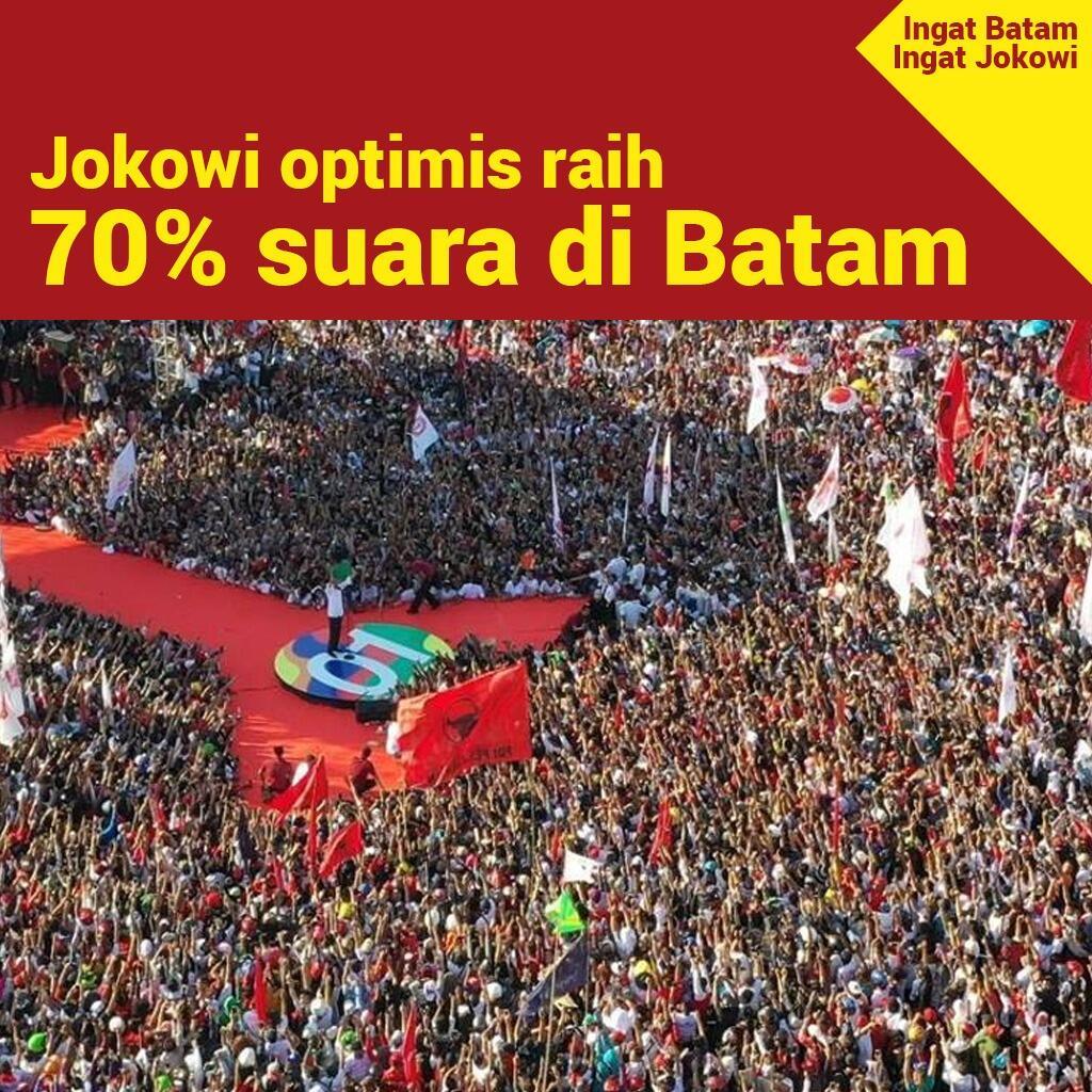 Jokowi Optimistis Bisa Raih Lebih dari 70 Persen Suara di Batam
