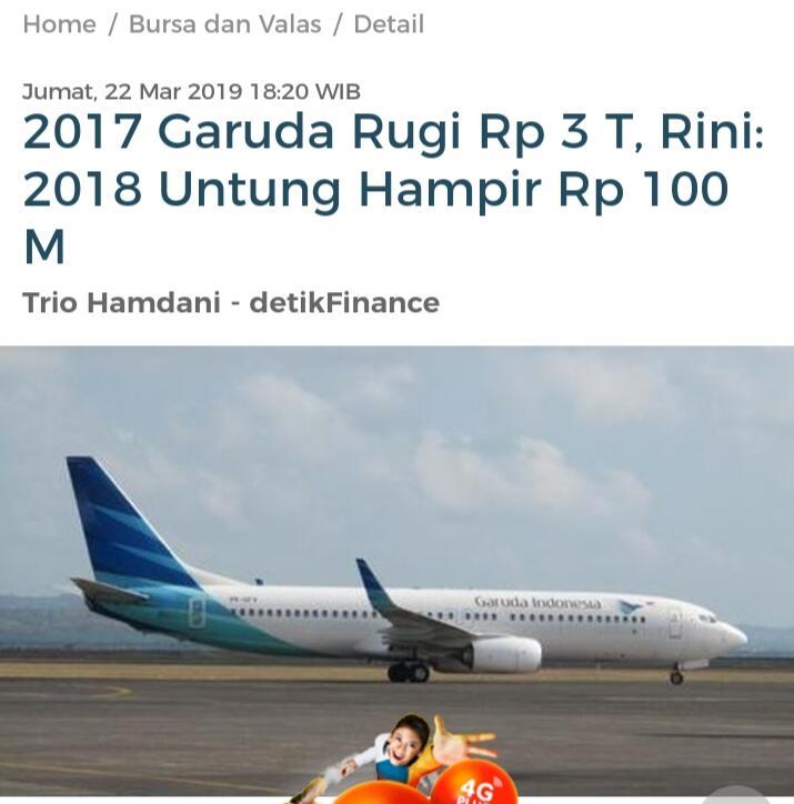 Prabowo Sebut Garuda Indonesia Minta Ampun, BPN: Impossible Untung