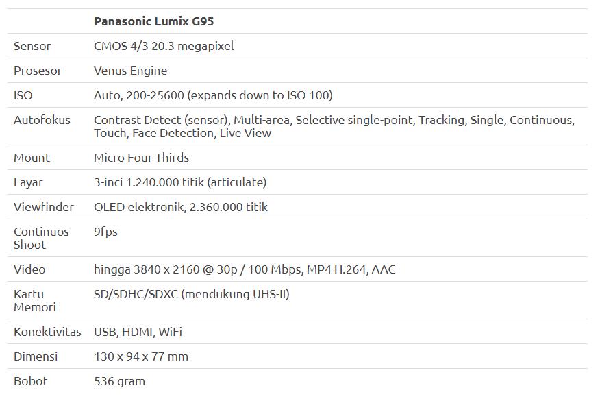 Panasonic Lumix G95: Optimal Rekam Video dengan V-LogL dan Sensor 20.3 megapixel