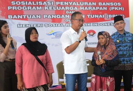 Kemensos Salurkan Lagi Bansos PKH dan BPNT Rp73,5 M ke Tangerang