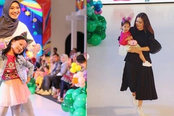 10 Momen Seleb Fashion Show Bareng Buah Hatinya, Super Gemas!