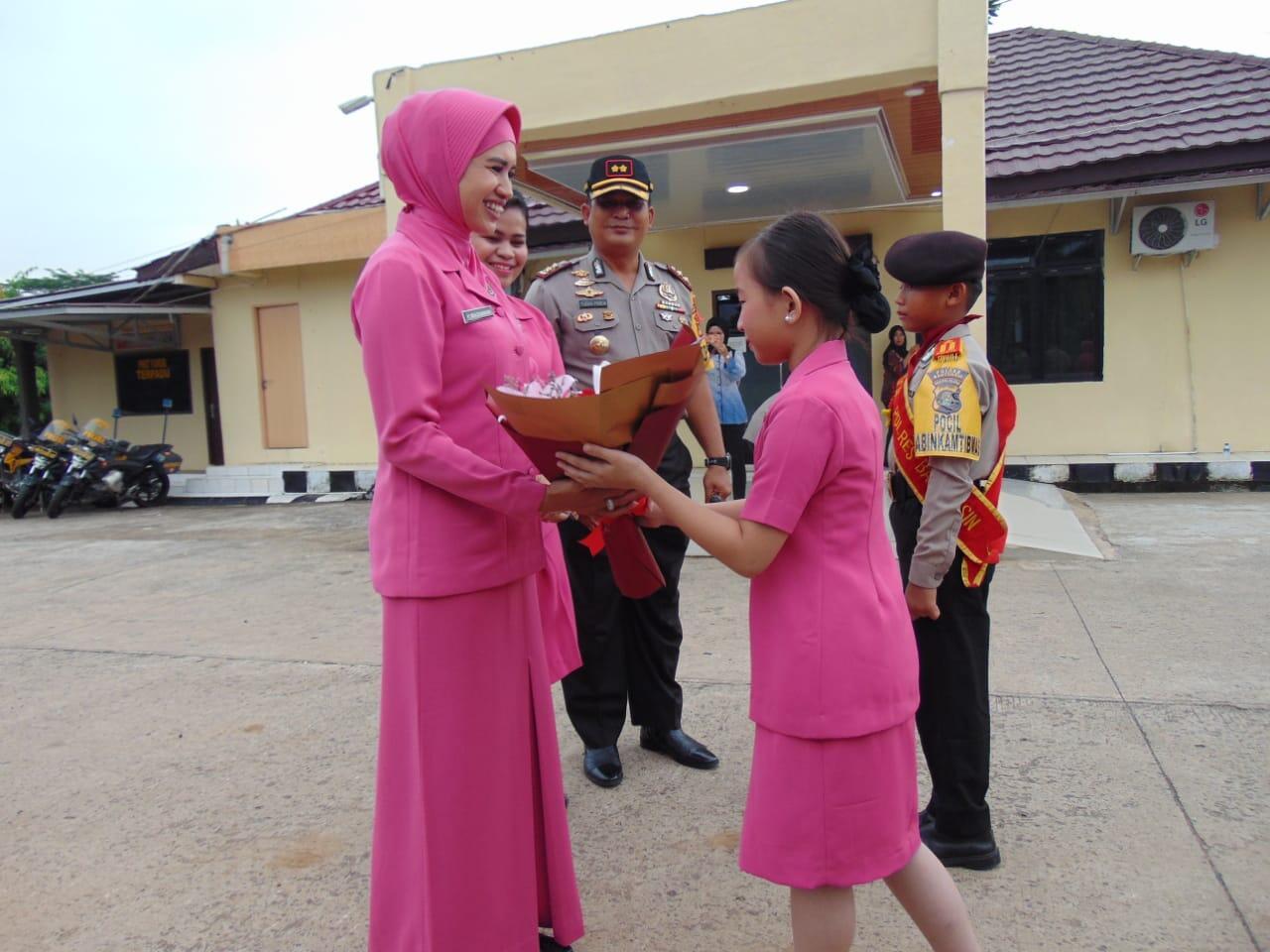 Jalinsilaturahmi, Ketua Bhayangkari Sumsel Kunjungi Mapolres Banyuasin