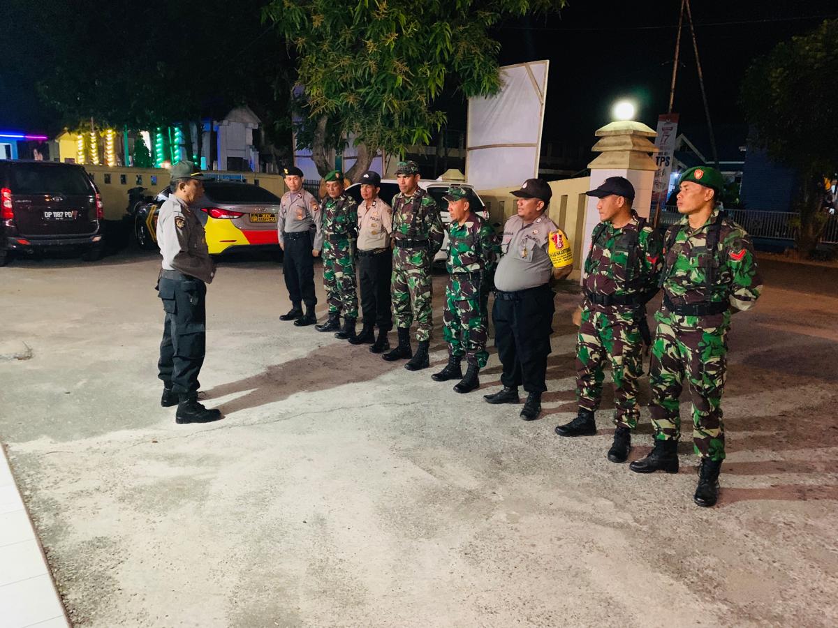 Sinergitas TNI/Polri di Rappang Memasuki H-8