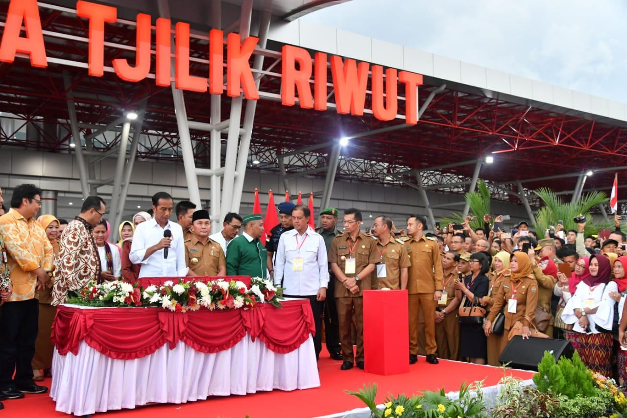 Presiden Resmikan Pengembangan Bandara Tjilik Riwut Palangka Raya