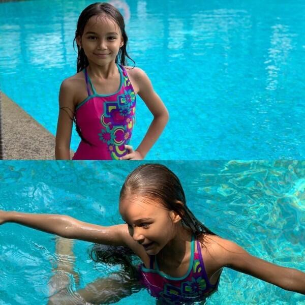 10 Potret Chloe dan Courage, Anak Melaney Ricardo yang Bule Banget