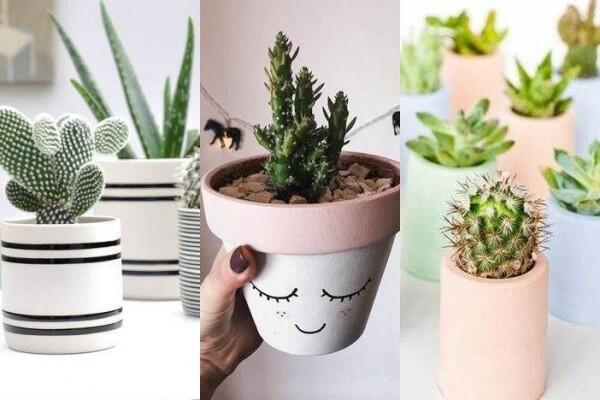 10 Ide Dekorasi Pot Lucu dan Unik, Kreatif Banget!