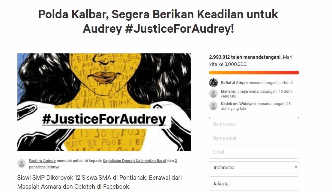 Mencari Keadilan untuk Audrey #JusticeForAudrey