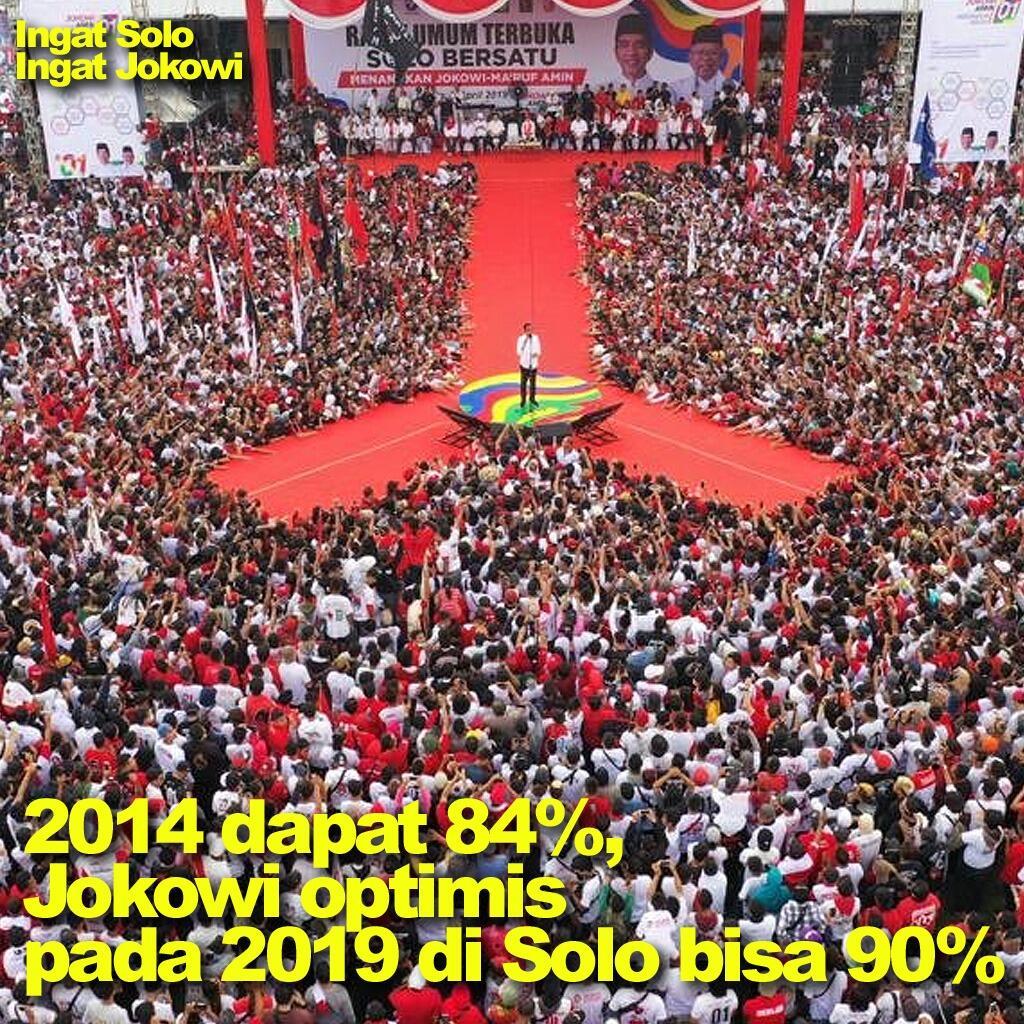 Kampanye di Solo, Jokowi: 2014 Kita Dapat 84%, 2019 Harus 90%