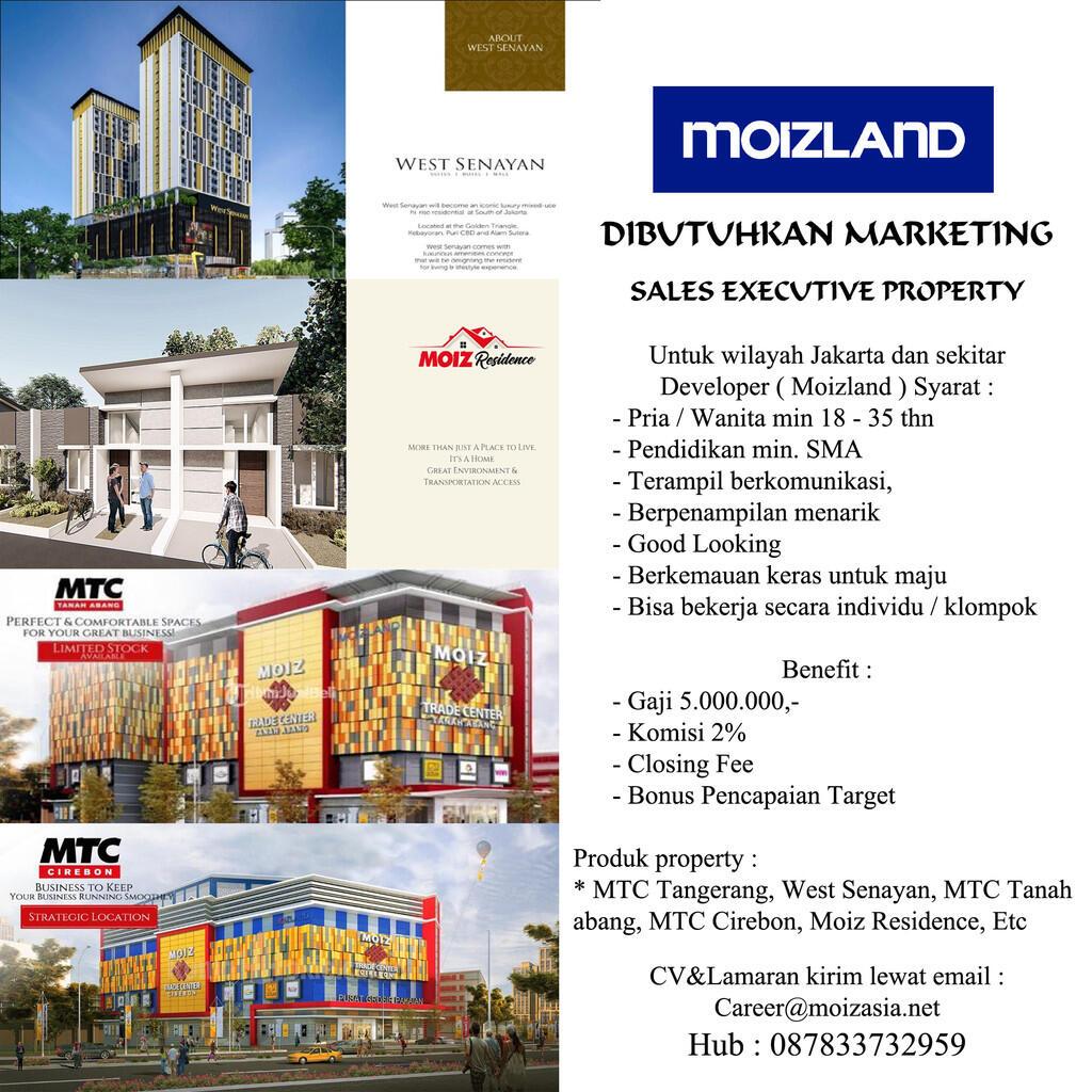 Lowongan Kerja Sales Property Moizland