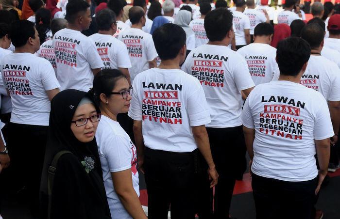 Jokowi kena hoaks lebih banyak ketimbang Prabowo