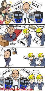 Komikus Jepang Sindir MRT Dan Juga Pemerintah