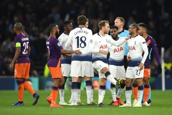 Tottenham Sukses Tundukan Man City di Leg I Perempat Final UCL
